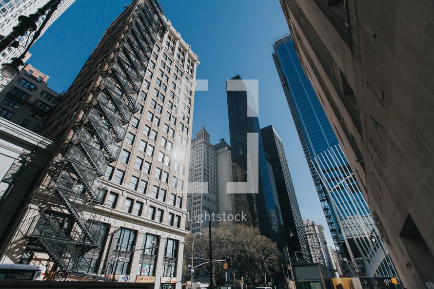 escape ladder on the side of a skyscraper