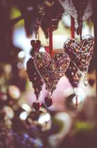 heart shaped potpourri ornaments