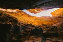 sunlight through canyon narrows