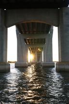 water under a concrete bridge