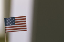 A small American flag.