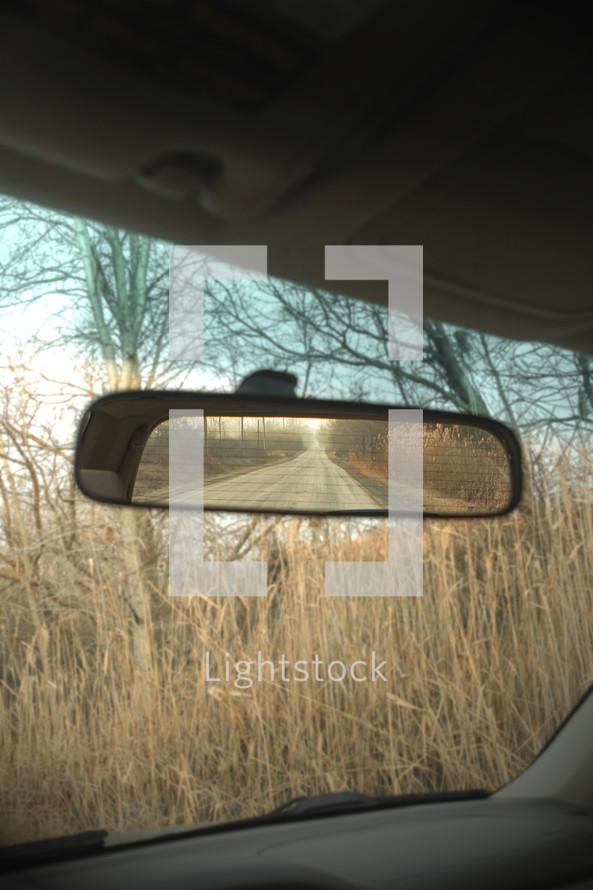 rear view mirror view