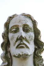 head of a marble statue of Jesus