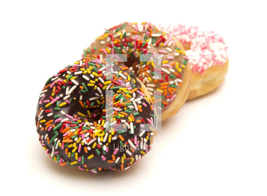 sprinkled donuts