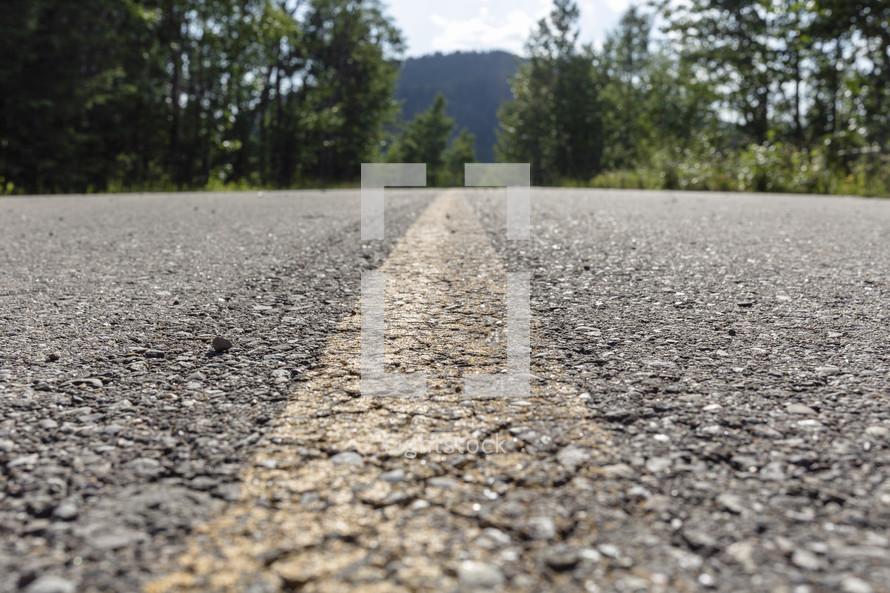 highway line on road