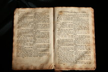 An old BIble open to the gospel of John