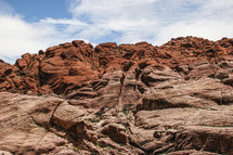 Red rock canyon mountain