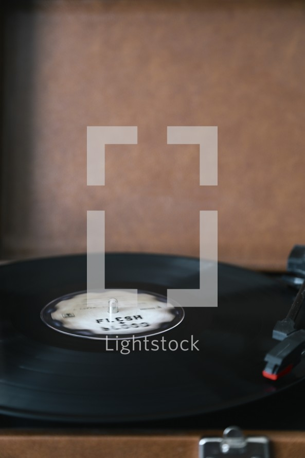 vinyl on a record player