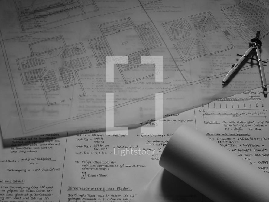 Blueprint for a church building,