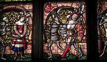 stained glass windows knight