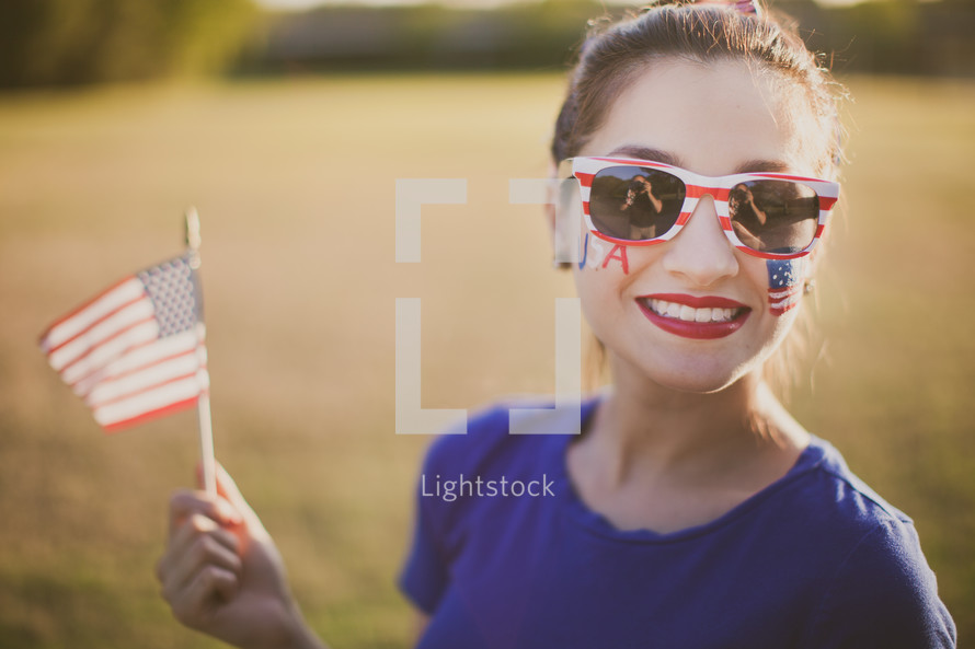 patriotic woman for Independence day