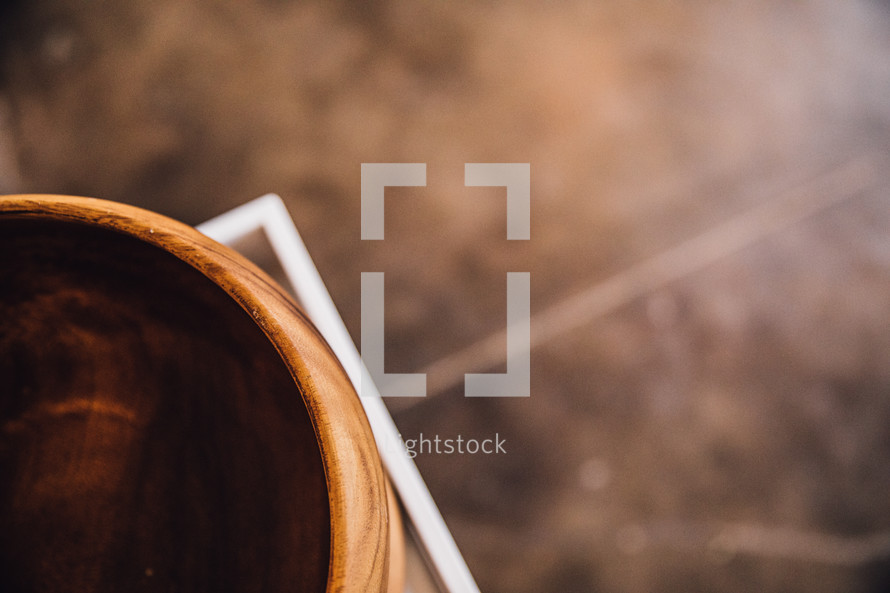 stacked wooden bowls