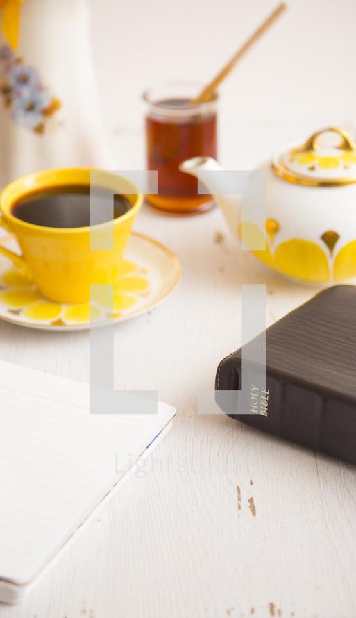 Bible and tea