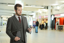 Businessman in an airport