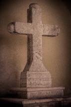 stone cross statue