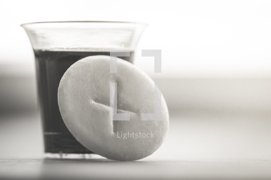 communion cup and wafer