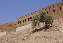 City wall of the longest continually inhabited city in the wall, Erbil, Kurdistan, Iraq.