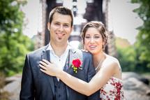 a couple in formal attire
