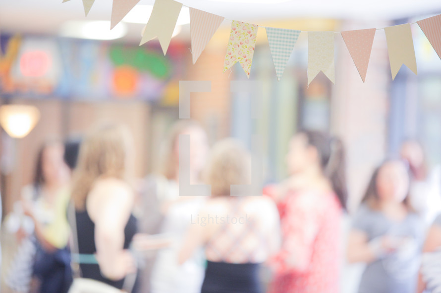 banner at a baby shower