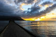 Hanalei Pier Sunset.