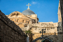 dome on a church in Jerusalem