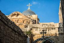 dome on a church in Jerusalem