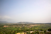 view of modern day suburbs of the holy land
