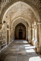 interior of an old church in the holy land