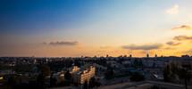 Jerusalem skyline at dusk