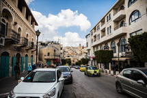 modern day traffic in the holy land