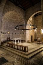 altar in an ancient church