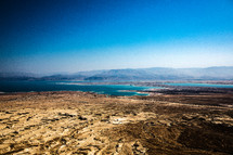 sea and desert landscape in the holy land