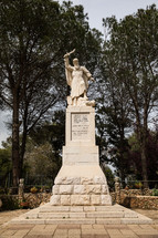 warrior statue in the holy land