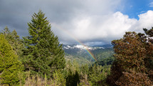 rainbow over Redwood Creek