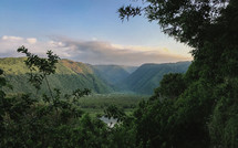 Pololu Valley at sunrise.