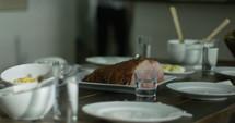 ham dinner on a table