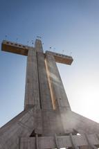 concrete cross sculpture in La Serena, Chile