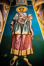 biblical paintings in an ancient church