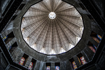 interior of a dome in an ancient church