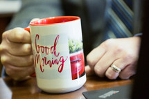 businessman with a coffee mug