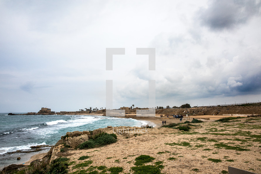 shoreline in the holy land