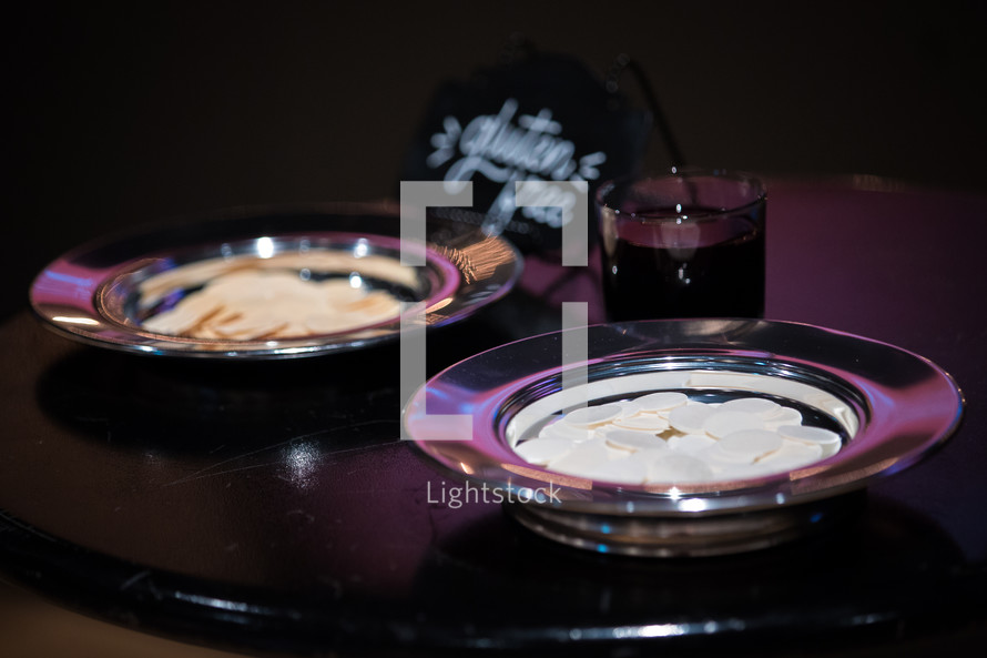communion wafers in a bowl