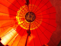 Underneath side of Asian lantern