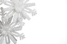 snowflakes on a white background