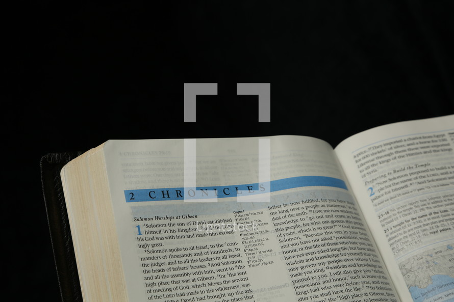 The Bible open up to 2 Chronicles