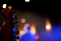 guitar pegs and stage lights