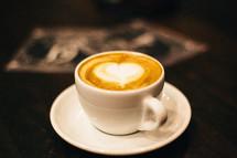 heart shape in coffee creamer