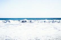 curling waves in the ocean