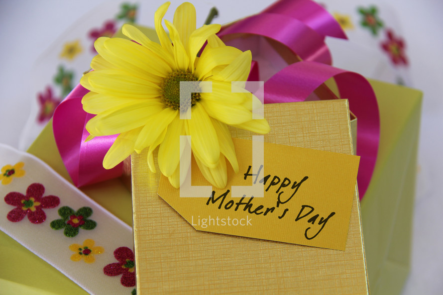 Happy Mother's Day Flower, card and gift.