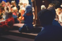 children in costume at a Christmas Pageant